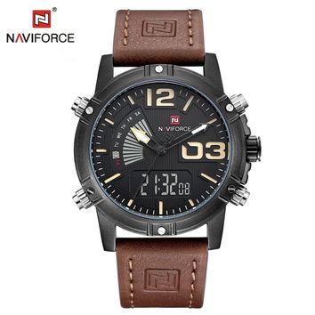 NAVIFORCE Top Luxury Brand Fashion Casual Quartz Men watch Analog Clock Sport Army Military Wristwatches Saat Relogio Masculino