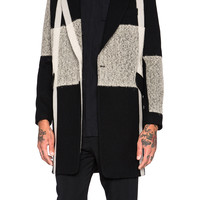 Song for the Mute Beige Needle Punch Raglan Coat in Black | FWRD