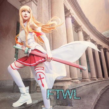 [FTWL] Sword Art Online Asuna Cosplay Costume Halloween Costumes for Women Full Set Customized