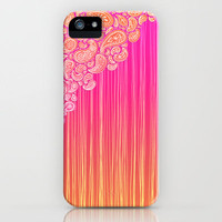 The Unraveling of Paisley Lace (in ombre pink and gold) iPhone Case by micklyn | Society6