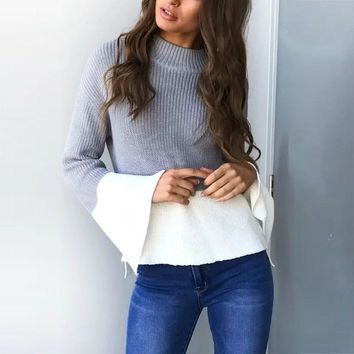Loose Fit, Flare Sleeve Sweater