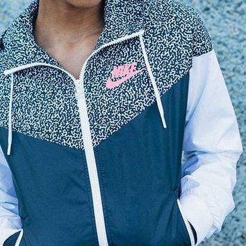 "shosouvenir :""NIKE"" Hooded Zipper Cardigan Sweatshirt Jacket Coat Windbreaker Sportswear"