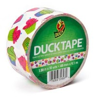 "Duck Brand Cupcake Pattern Duct Tape, 10 yards Length x 1-7/8"" Width"