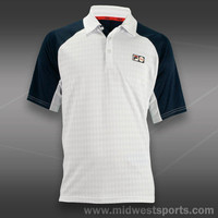 fila mens tennis polo, Fila Heritage Diamond Knit Polo TM131W31-100