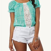 Crochet Mediterranean Peasant Top
