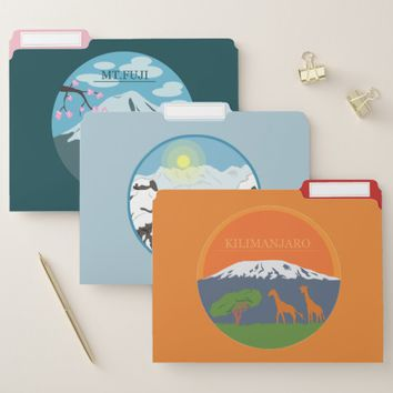 Mountains File Folder