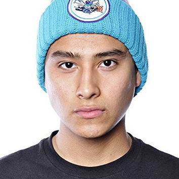 Mitchell & Ness NBA Hornets Basketball Knit Pom Beanie Team Hat Grey/Teal