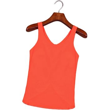 Womens Ventilation Chiffon Vest Very Light Summer Tank top