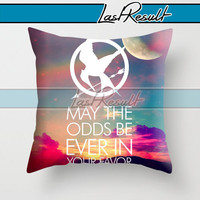 Hunger Games Quote on Decorative Pillow Covers