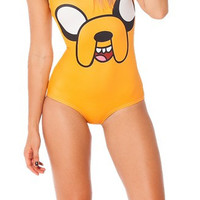 Jake Mustard Yellow Galaxy Milk Print One Piece Swimsuit