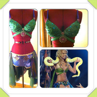Britney Spears inspired Costume, Im a Slave for you costume, Rave Outfit, Festival Bra, Halloween Costume