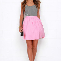 Posy on Over Pink Skirt