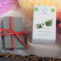 Fresh Cut Thyme Ring Soap  (Pick Your Ring Size)