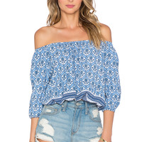 FAITHFULL THE BRAND Garden Top in Washed Out Print