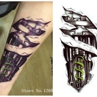 3D Machine Tattoo Temporary Tattoo Stickers Men Decoration Body Cool Decoration