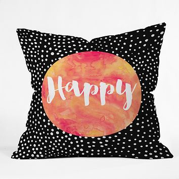 Elisabeth Fredriksson Happy 1 Throw Pillow