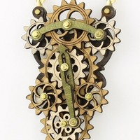 Moveable Gear Necklace