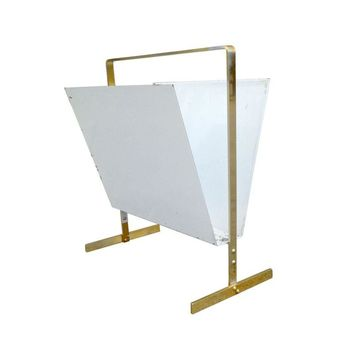 Pre-owned 1960s Brass Magazine Rack