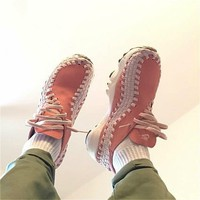 One-nice™ NIKE Wmns Air Footscape Woven Vintage Retro jogging shoes