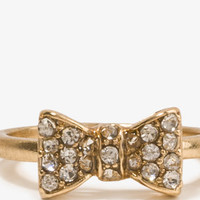 Rhinestoned Bow Ring | FOREVER 21 - 1031557555