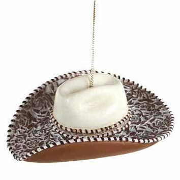 Christmas Ornament - Cowgirl Hat