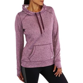 Avia Women's Active Performance Hoodie with Brushed Dotted Fleece Backing - Walmart.com