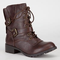 Soda Nova Womens Boots Brown  In Sizes