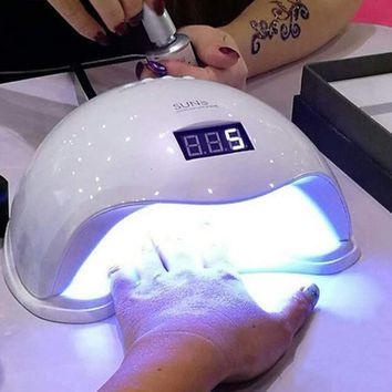 48W UV Led Lamp Nail Dryer White Light for UV Gel