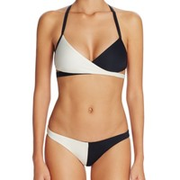 Vitamin A Camryn Color Block Wrap Bikini Top | Bloomingdales's