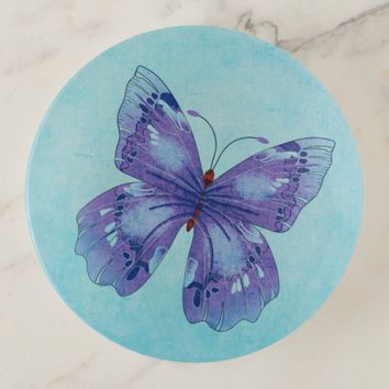 Butterfly Art Trinket Trays