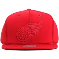 Detroit Red Wings Neoprene Strapback Hat Red
