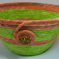 Easter Basket, Coiled Fabric Basket, Bowl