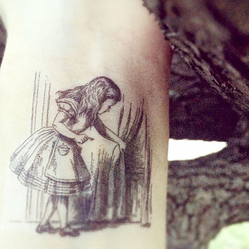 Alice in Wonderland Temporary Tattoo