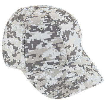 Augusta 6208 Camo Cotton Twill Cap - White Camo