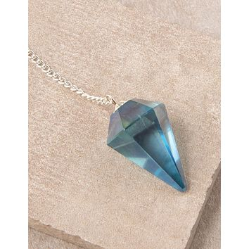 Aqua Aura Quartz Pendulum - As Is Clearance