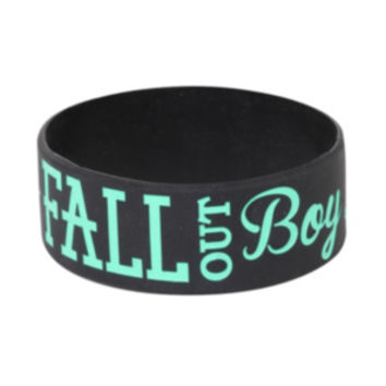 Fall Out Boy Anchor Rubber Bracelet
