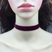 Vintage Steampunk Burgundy Velvet Choker Necklace 18mm Wine Red Plain Velvet With Silver Clasp Closure Handmade Simple Jewelry-in Choker Necklaces from Jewelry & Accessories on Aliexpress.com | Alibaba Group