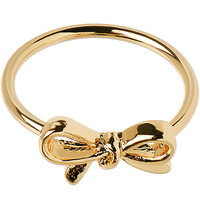 Gold Tone Bow Mid Finger Ring - Size 3 | Body Candy Body Jewelry