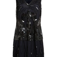 Gatsbylady Great Gatsby Flapper Dress in Navy Blue and Black