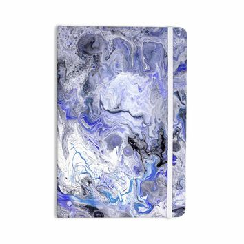 """Catherine Holcombe """"Purple Marble"""" Purple Black Abstract Geological Painting Everything Notebook"""