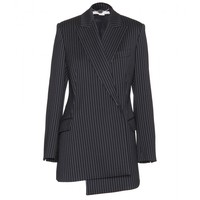 stella mccartney - asymmetric blazer with pinstripes
