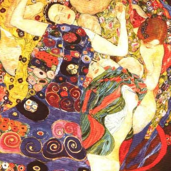 Gustav Klimt The Virgins Poster 24x36