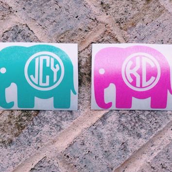 Best Elephant Monogram Decal Products On Wanelo - Monogram car decal sticker