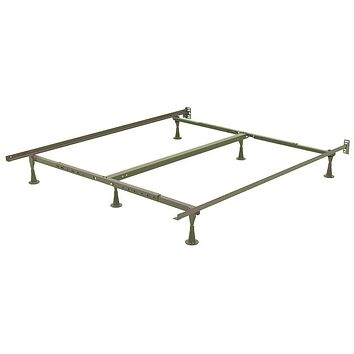 California King Size Metal Bed Frame with Headboard Brackets
