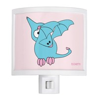 Cute Dabbing Flying Funny Pterodactyl Dinosaur Night Light