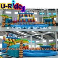 Inflatable Water Park With Swimming Pool - Buy Inflatable Water Park,Inflatable Aqua Park,Mobile Water Amusement Park Product on Alibaba.com