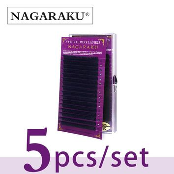 NAGARAKU  5 cases set,High quality mink eyelash extension,individual eyelashes,natural eyelashes,fake false eyelashes 1