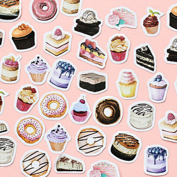 45 PCS, Cupcake sticker, Sweet sticker, Dessert sticker, Ice Cream stickers, Food stickers, Cake sticker, Birthday sticker, Lifelog 33