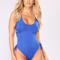 You're Knot Down Swimsuit - Royal Blue