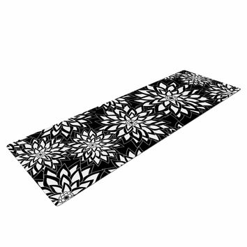 "Julia Grifol ""Black And White Garden"" Digital Vector Yoga Mat"